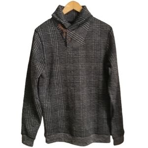 3/30$ Grey Cosy Checkered Collar Sweatshirt